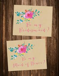 Bridesmaid Card Wording Free