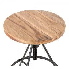 si e pivotant siège de barre pivotant en métal bois d orme massif noir 61