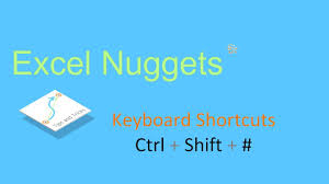 excel 2010 shortcut applying date format ctrl shift