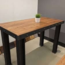 long island standing desk bar top table communal table