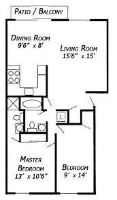 Simple Floor Plans With Dimensions Hancock East 2 Bedroom Floor Plan