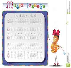 draw a treble clef stock illustration image 58306103