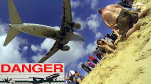 Challenge Que Significa St Maarten United Boeing B737 6th Amazing Jet Blast Challenge