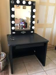 lighted makeup vanity sets lighted makeup vanity table mirror