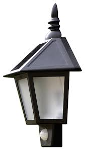 solar powered exterior wall light with outdoor lights