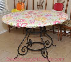 Fitted Oval Tablecloth Sew Snazzy Stitches How To Make A Fitted Tablecloth