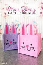 diy easter basket diy easter basket mini bunny template consumer crafts