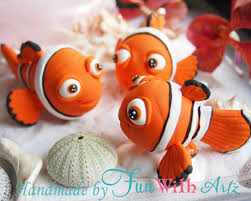 nemo cake toppers beautiful handmade nemo cake toppers using air polymer clay