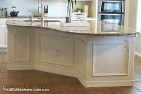 kitchen island molding kitchen makeover 1 4 island molding because i like to decorate