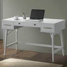 Bombe Secretary Desk by Mid Century Modern Writing Desk With 3 Drawers Coaster 800745