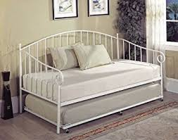 amazon com kings brand furniture white metal twin size day bed