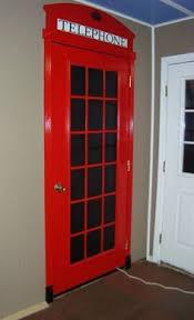 telephone box mirror make for closet door