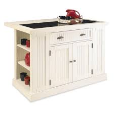 home styles nantucket distressed white kitchen island with stools