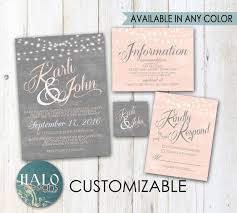 regency wedding invitations grey blush wedding invitations invitation kit thank you card