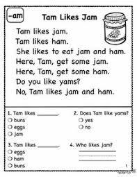 kindergarten reading passage kindergarten reading comprehension passages freebies