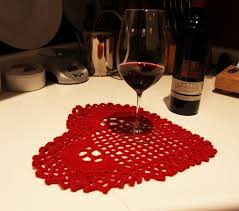 valentines day home decorations valentine s day home decor crocheted table cover red heart