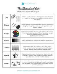 elements and principles of art writing activity maybe have