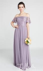 bridesmaid dresses gorgeous lace the shoulder bridesmaid gown with chiffon skirt