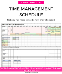 my time management schedule u0026 how i get the most out of each day