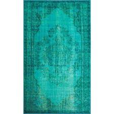 Turquoise Area Rug Turquoise Solid Gradient Area Rugs Rugs The Home Depot