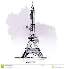 pencil drawing eiffel tower stock illustration image 76167357