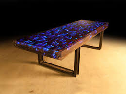 led light desk l 10 ft l dining table desk driftwood resin embedded led light ebay