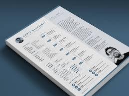 Adobe Illustrator Resume Template Clean Resume Template Free Design Reso Peppapp