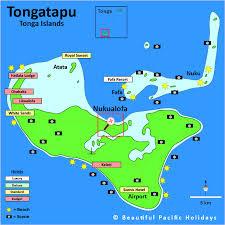 tonga map map of tongatapu lagoon in tonga showing hotel locations