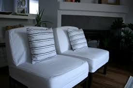 Blue And White Striped Slipcovers Little Living Room Makeover And Much Needed Pillow Update Create