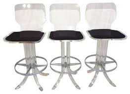 Garden Bar Stool Set by Vintage Acrylic Bar Stools Set Of 3 Accent And Garden Stools