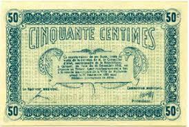 chambre de commerce mulhouse billets billets des chambres de commerce mulhouse 50 centimes