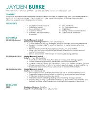 Market Research Analyst Resume Format Market Research Resume Sample