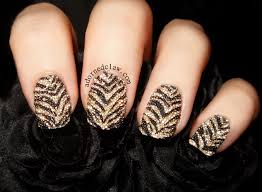 tiger stripe caviar stamped nail art the adorned claw