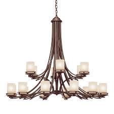 chandelier rectangular dining room lighting kichler chandeliers