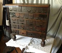cool antique file cabinet dresser 28 tin lined drawers 1900 1950