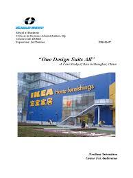 ikea globalization strategies and its foray in china qualitative