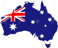 Blue White And Red Flags The Red White And Blue Australian Flag And Stars Placed Over An