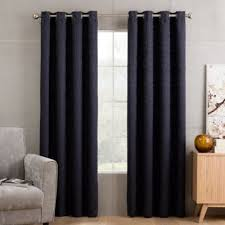 buy navy curtains from bed bath u0026 beyond