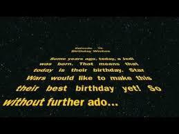 Star Wars Birthday Meme - happy birthday from star wars youtube