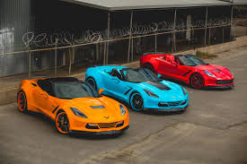 bright orange cars blonde model with forgiato corvette stingray image 1 8
