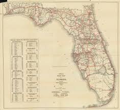 Lake Mary Florida Map by Florida Memory Official Road Map Of Florida 1930