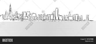 chicago outline sketch michigan vector u0026 photo bigstock