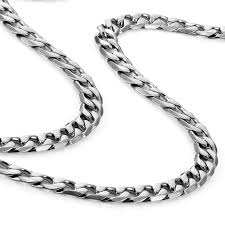 stainless mens necklace images Classic mens necklace 316l stainless steel silver chain color 18 jpg