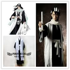 Bleach Halloween Costumes Bleach Cosplay 6rd Division Captain Kuchiki Byakuya Cosplay