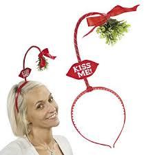 mistletoe headband ardisle christmas novelty mistletoe bopper headband secret