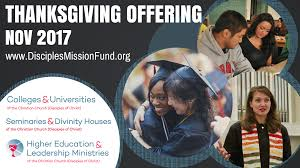 2017 thanksgiving special offering disciples mission fund