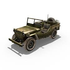 army jeep drawing willys jeep 3d asset cgtrader