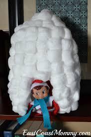 east coast mommy elf on the shelf igloo and scarf