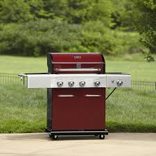Backyard Grill 2 Burner Gas Grill by Kenmore 4 Burner Lp Red Gas Grill W Searing Burner U0026 Side Burner