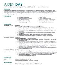 Resume Sample Marketing Manager by Resume Of A Marketing Manager Free Resume Example And Writing